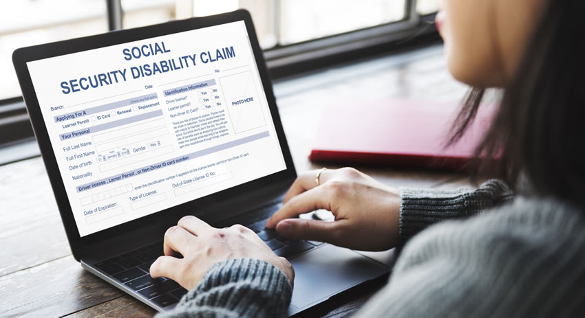 woman filing social security disability claim