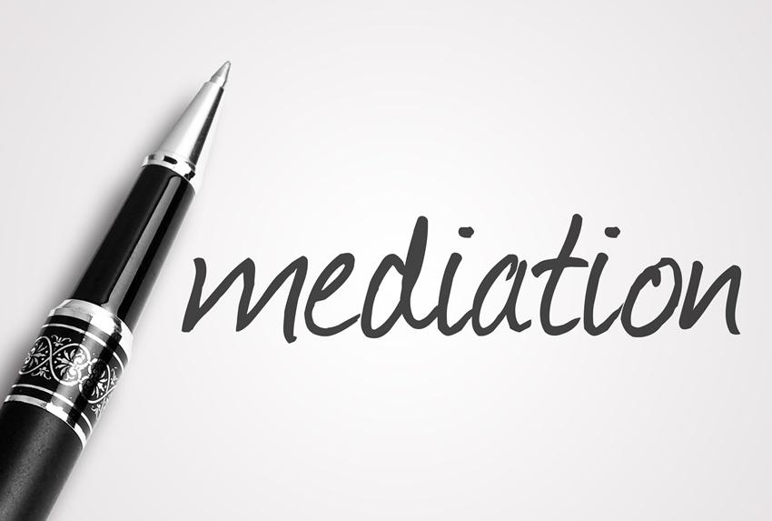 Pen with word mediation written